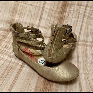 Jellypop New Gold Memory foam flat Girls Sandals